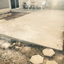 Concrete before R. May Pic