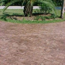 Driveway Pic stamped colored concrete